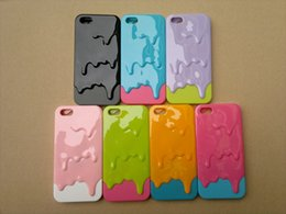 Wholesale Melted Ice Cream Case - Factory wholesale silicone shell anti fall 5S mobile phone shell melted ice cream apple iPhone5 shell