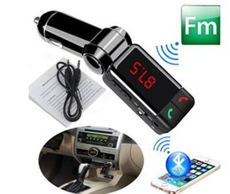 Wholesale dual aux - Free DHL,BC06 bluetooth car charger BT car charger MP3 BC06 mp3 MP4 player mini dual port AUX FM transmitter