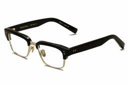 Wholesale Titanium Eyeglass Frames Brands - brand design DT statesman three optical frame for men with original box semi Titanium plank material eyeglass frame for men free shipping