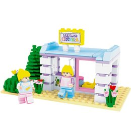 toy cabin prices - New 110pcs Beautify The Cabin Building Blocks Sets Toys For Children Friends DIY Bricks Kids Christmas Gift Toys Brinquedo