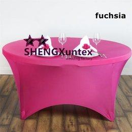 5 adet Yuvarlak Güçlü Cep Likra Spandex Masa Örtüsü Masa Örtüsü Düğün Dekorasyon Için nereden yuvarlak düğün masa örtüleri tedarikçiler