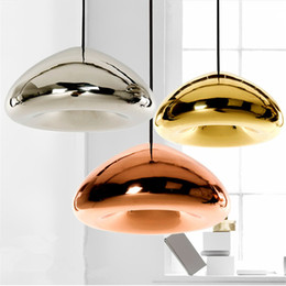 Wholesale Gold Ceiling Chandelier - Tom Dixon Void Pendant Lamp Void Light Modern E27 LED Pendant Lamp Ceiling Light Suspension Lighting Chandelier Lamps 15 30cm