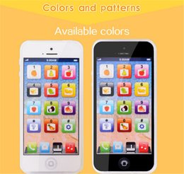 Wholesale Iphone Toy Learning Phone - NEW 2017 New arrival Childrens Y-Phone Educational Learning Kids iPhone TOY 4s 5 Christmas Gift Y-Phone Educational Learning Kids