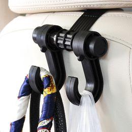 Крючки с черным покрытием онлайн-Черный автомобиль заднее сиденье грузовика крючок кошелек сумка висит вешалка авто сумка организатор держатель
