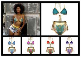 Wholesale Wholesale Bathing Suits Women - 2017 Sexy South African Golden Halter bikini high waist swimsuit two pieces swimwear women bathing suit bather maillot de bain free shipping