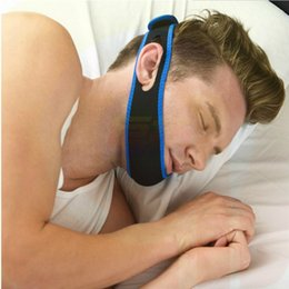 Wholesale Chin Support - Anti Snoring Chin Strap Neoprene Stop Snoring Chin Strap Support Belt Anti Apnea Jaw Solution Sleep Device Snoring Cessation