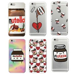 Wholesale Cute Nutella Peanut Butter Soft TPU Phone Case Cover For iphone s plus s SE Sumsang S7 edge OPP BAG
