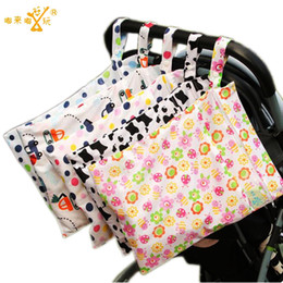 Wholesale Baby Swimmers - Wholesale-30*40 CM New Two Zippers Pocket Fashion Wet Dry Bag Washable Baby Nappy Diaper Bag Reusable Lovely Patterns Swimmer Bikini Bag