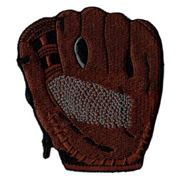 Wholesale Iron Patches Baseball - Fashion Baseball Glove Embroidery Patch Iron On Jersey 100% Embroidery Stitch Design Badge Sport Event Patch Sew On Free Shipping