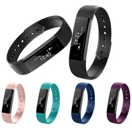 Wholesale Calorie Counter Tracker - ID115 Bluetooth Smart Band Sport Fitness Watch Activity Tracker Sleep Monitor Wristband Pedometer Calories Counter Bracelet for iOS Android