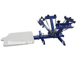 Wholesale T Shirts Screen Printing Machine - 4 color 1 station silk screen printing machine t-shirt printer press equipment carouselFAST and FREE shipping! Cheap price