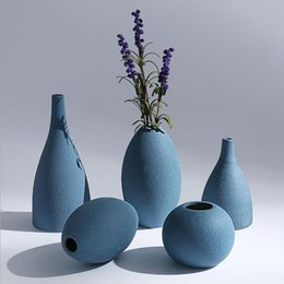 Dry Flowerware For House Decoration Porcelain Vase With Europe Type Style Frosted Glaze Vase With High Temperature