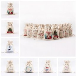 Wholesale Other Storage - New Hot sale household storage bag 14 styles drawstring bag Christmas series Creative Gift bag IA833