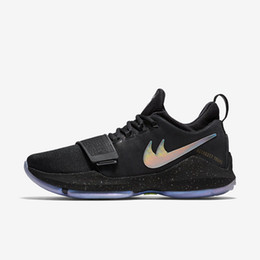 Wholesale Band Embroidered - Mens Paul George PG I 1 Shining Low Cut Basketball Shoes Adult Sport Trainer Sneakers 40-46 Free Shipping