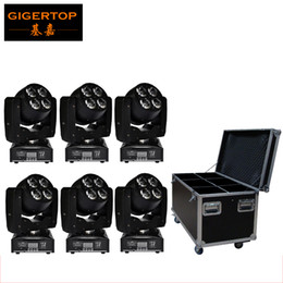 Wholesale Dual Axis - Freeshipping 6IN1 Flightcase Pack 8*15W OS-RAM RGBW Led Moving Head Light Double Face Y Axis Endless Rotation Dual LED Effect
