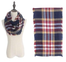 Wholesale ring lattice - New Fashion Wool Winter Scarf Women Spain Scarf Plaid cashmere Thick Brand Increase lattice Shawls and Scarves for Women