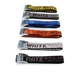 Wholesale Biker Bomber - 2018 top quality off white best design canvas belt off white virgil abloh motocycle bomber biker men belt you cut me off-white