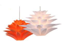 Wholesale Lotus Pendant Lamp - Lily Flower Pendant Light Material Of PVC Lotus Shape Fixture Pendent DIY Lampshade Bedroom   Shops LED Hanging Lamp