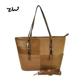 Wholesale Women Handbag Studded - Wholesale-New 2016 Women PU Handbag Metal buckles Rivets Studded Detail Women Shoulder Bag Fashion Bags VK1481