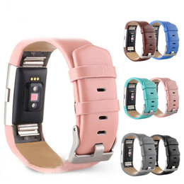 Wholesale Leather Band Bracelets Wholesale - For Fitbit Charge 2 Bands geniue leather Replacement Luxury Watchband For Fitbit charge2 Bracelet wristband Strap