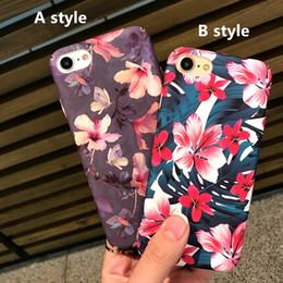 Роскошные Чехлы для Сотовых Телефонов Для Apple iPhone 6 6 s 6 плюс 7 7 плюс Цветы Защиты Телефона Матовый жесткий Корпус задняя крышка бесплатная доставка от