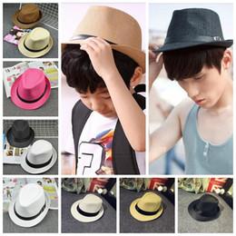 Wholesale British Matches - Children Kids Kitted Print Hats Buckle Adult British Jazz Cap Hats Parent-Child Family Match Wide Brim Hats 120 PCS YYA428