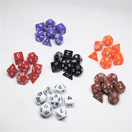 Wholesale Novelty Board Games - Board Game Novelty Acrylic Polyhedral TRPG Games for Dungeons Dragons Decompression Toy Opaque D4-D20 Multi Sides Dice Pop for Game Gaming