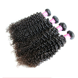 Wholesale Brazilian Hair Weave Curl Brown - 8A Unprocessed Brazilian Virgin Human Hair Weave Weaves Kinky Curly Dyeable Deep Curl Dye To Ombre Color 4Pcs lot DHL Free Shipping