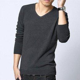 Wholesale Cheap Pullover V Neck Sweaters - Wholesale- XS-5XL Free shipping cheap-clothes-china2015fall&winter plus size new sweater men long sleeve pullover men Korean V-neck sweater