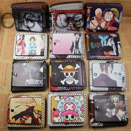 Wholesale Women One Piece Leather - Wholesale- Fashion One Pieces PU leather Women Men Cute Cartoon Wallet Tokyo Ghoul Butler Card Holder Short Unisex Purse