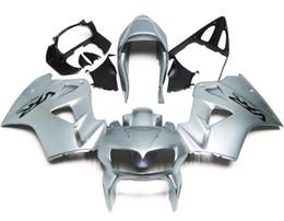 Wholesale Honda Fit Silver - 3 Free gifts New ABS Fairing Kits 100% Fit For HONDA VFR800RR 98 99 00 01 VFR800 VFR 800RR 1998 1999 2000 2001 Bodywork set silver black