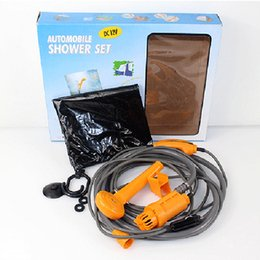 Wholesale Outdoor Camping Lighter - Portable Outdoor Camping Shower Gear Handheld Adjustable Shower Head With 12V Cigarette Lighter Car Showers For Camp Trips Outdoors Shower