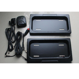 Wholesale United Plastic - The United States Auto Plastic Licence Plate Frame front rear license plate frame Stealth Remote car Privacy Cover Vehicle cover 2pc set