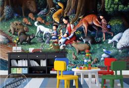 Fiabe murale online-3d stereoscopico carta da parati luxus fiaba paesaggio pittura sfondo muro personalizzato carta da parati murale