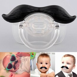 Wholesale Teeth Orthodontic - baby pacifiers Funny Teeth Mustache Baby Boy Girl Pacifier Orthodontic Beard Pacifiers Boy Teeth Infant Pacifier Nipples mix