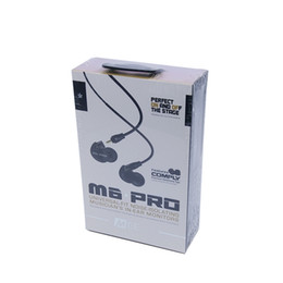 Wholesale Blackberry Earphone Adapter - MEE Audio M6 PRO noice-isolating 3.5mm HiFi In-Ear Monitors Earphones with Detachable Cables Sports Wired Headphones with 6.3mm adapter