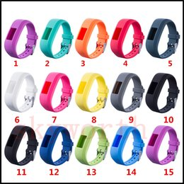 Wholesale Replacement Straps - Soft Silicone Replacement Wrist Watch Band Strap Wristband for Garmin Vivofit 3 JR 15 Colors DHL free shipping