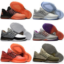 2019 sapatos laranja para meninos Mais recente James Harden Vol.1 Mês da História Negra Branco Laranja Sapatos de Basquete dos homens de Ouro Harden Vol.1 Baixo BHM Meninos Sapatilhas da Escola de Grau sapatos laranja para meninos barato