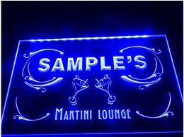 Wholesale Led Name Lights - tm12 Name Personalized Custom Martini Lounge Cocktails Bar Wine LED Neon Light Sign hang sign home decor crafts