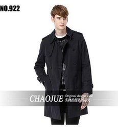 Wholesale Men S Cashmere Spring Coats - The spring and autumn period and the han edition men fashion boutique British double-breasted trench coat   S-6XL
