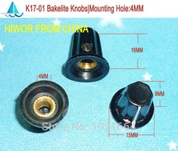 Wholesale ASS Knob K17 Bakelite Knob Mounting Hole MM For Rotary potentiometer Encoder Rotary Switch
