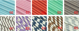 Wholesale Disposable Party Supplies Wholesale - Hot Selling 1000pcs Mixed simple Biodegradable Paper Straw Drinking Decorativing Wedding Baby Kids Birthday Party Supplies