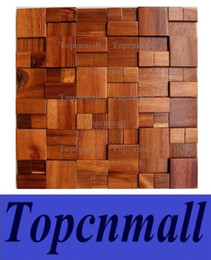 Wholesale Wooden Wall Tiles - 3D wooden mosaic tiles interior design wall tiles building supplies home hotel bar restaurant design mosaic tile patterns natural wood mosa