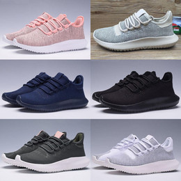 Wholesale 3d Rubber Art - 2017 High Quality Mens Womens Originals Tubular Shadow Knit Core Black White Cardboard Sneakers Running Shoes 350 boost 3D Sneakers 5-10