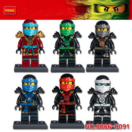 Wholesale Decool Ninja - 10 Sets 6Pcs Decool 0086-0091 ninja minifigures Nya Lloyd Kai Jay Cole Zane Building Block Kids Brick Toy without box