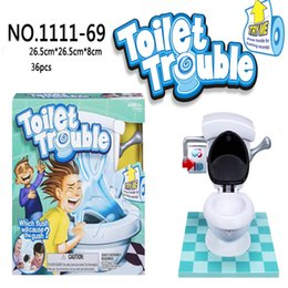 Wholesale Plastic Toy Toilets - kids toy Toilet trouble game Washroom Tricky Toys Funny Game Fun Play Children Party Games high copy KKA1537