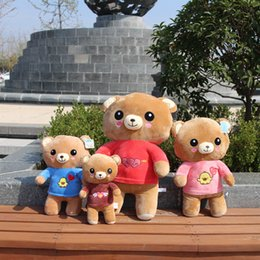 Wholesale Teddy Bear Girl Boy - Lovely Dressing Xiong Maorong Toys Poodle Teddy Bear Birthday Gift Girl Student Lover Section Low Price