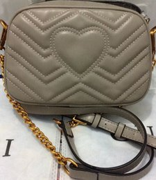 Wholesale Buckle Shoulder Bag - hot sell 2017 MARMONT T wave pattern retro G buckle chain SHOULDER BAGS free shipping