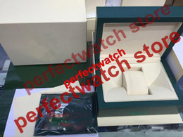 Wholesale Sub Box Papers - AAA High Quality Watch Green Box 2017 New style Green Original Box Papers Leather bag Gift Boxes In GMT SUB SEA-DWELLER DEEP Watches