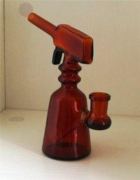 Pistolet pour pas cher en Ligne-Petits pistolets de narguilé pistolet à cire d'abeille canettes en verre produits à base de verre bon borosilicate